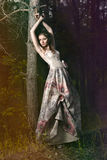 Mulher na floresta feericamente Imagens de Stock Royalty Free