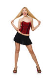 Mulher na forma Fotografia de Stock Royalty Free