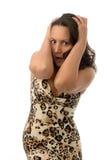 Mulher na grande surpresa Fotos de Stock