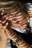 Mulher na luz solar Imagens de Stock Royalty Free