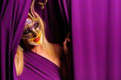 Mulher na máscara Fotos de Stock Royalty Free