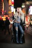 Mulher na pele Imagem de Stock Royalty Free