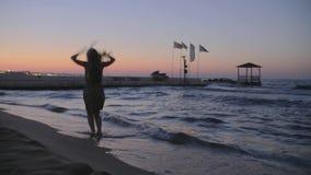 Mulher na praia vídeos de arquivo