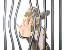 Mulher na prisão Imagens de Stock Royalty Free