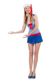 Mulher na roupa de forma Foto de Stock Royalty Free