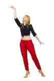 Mulher na roupa de forma Fotos de Stock