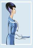 Mulher na roupa do escritório Fotos de Stock Royalty Free