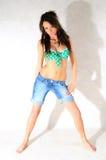 Mulher na roupa do verão Imagens de Stock Royalty Free