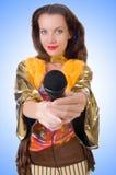 Mulher na roupa espanhola Foto de Stock Royalty Free