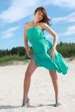 Mulher na turquesa imagens de stock royalty free