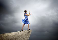 Mulher na venda Fotos de Stock Royalty Free