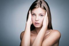 Mulher natural da beleza Fotos de Stock Royalty Free