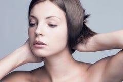 Mulher natural da beleza Foto de Stock Royalty Free