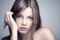 Mulher natural da beleza Fotografia de Stock Royalty Free