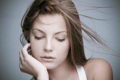 Mulher natural da beleza fotografia de stock