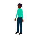 Mulher negra isométrica Fotografia de Stock Royalty Free