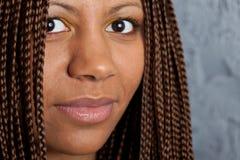 Mulher negra nova Imagem de Stock