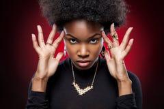 Mulher negra nova e bonita fotos de stock royalty free