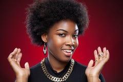 Mulher negra nova e bonita foto de stock royalty free