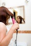 Mulher no banheiro Imagens de Stock Royalty Free