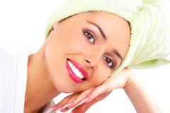 Mulher no banho Imagens de Stock