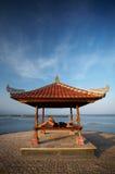 Mulher no beira-mar de Bali imagem de stock royalty free