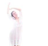 Mulher no branco Foto de Stock Royalty Free