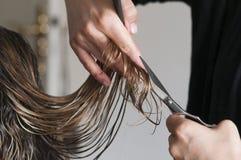 Mulher no cabeleireiro Fotos de Stock Royalty Free