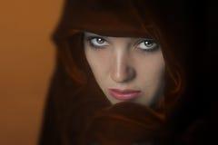 Mulher no cabo Imagens de Stock Royalty Free