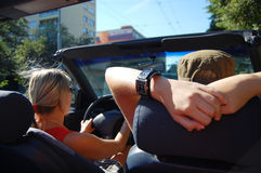 Mulher no cabriolet Foto de Stock Royalty Free