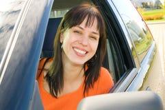 Mulher no carro Imagens de Stock