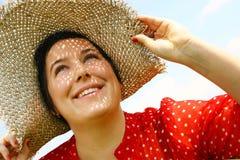 Mulher no chapéu Fotografia de Stock