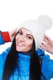 Mulher no chapéu do inverno Fotografia de Stock Royalty Free