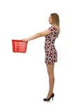 Mulher no conceito da compra Foto de Stock Royalty Free