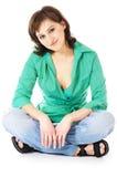 Mulher no desgaste ocasional Fotografia de Stock Royalty Free