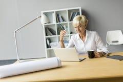 Mulher no escritório Imagens de Stock