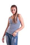 Mulher no estúdio Fotografia de Stock Royalty Free