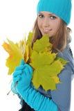 Mulher no estilo do inverno Foto de Stock
