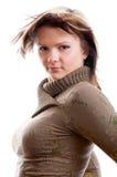 Mulher no fundo branco Imagens de Stock
