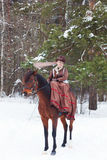 Mulher no hábito de equitação fotos de stock