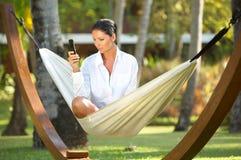Mulher no hammock Imagem de Stock Royalty Free