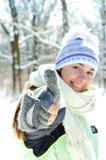 Mulher no inverno imagem de stock