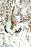 Mulher no inverno foto de stock