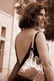Mulher no movimento Fotografia de Stock Royalty Free