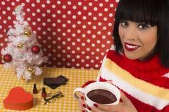 Mulher no Natal Fotos de Stock
