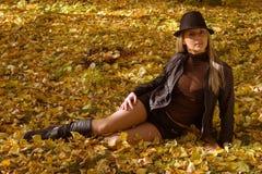 Mulher no parque Foto de Stock