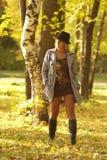 Mulher no parque Fotos de Stock Royalty Free