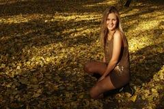 Mulher no parque Fotografia de Stock