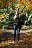 Mulher no parque imagem de stock royalty free