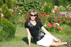 Mulher no parque Sokolniki Imagens de Stock